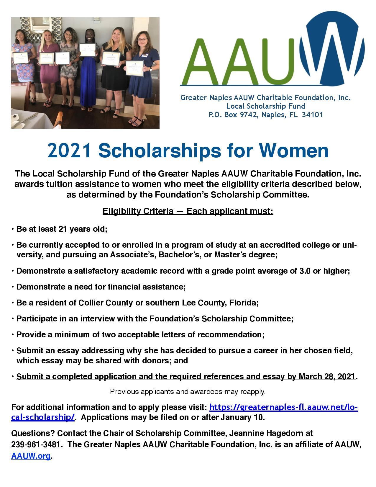 2021 Local Scholarship
